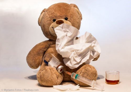 Teddy Bear sick