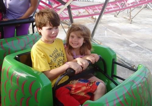Dorney Park kids riding coaster