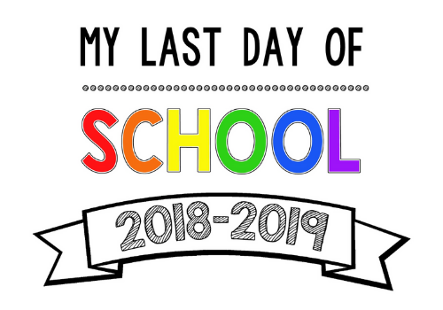 picture about Last Day of School Signs Printable called Rejoice the Past Working day of Faculty With Our Absolutely free Printable Indications!
