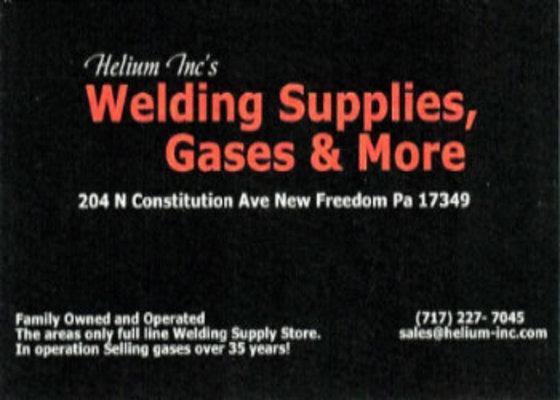 Helium Inc: Welding Supplies, Gases & More