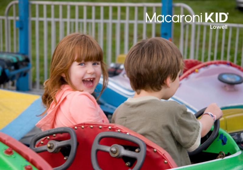 Children on carnival ride