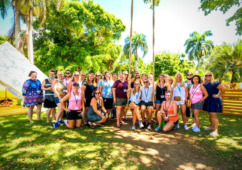 Melia Caribe Beach group photo