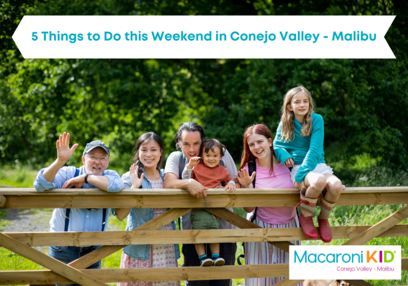 5 Things to do this Weekend in Conejo Valley - Malibu, multi generational family outside against a wood fence waiving and smiling