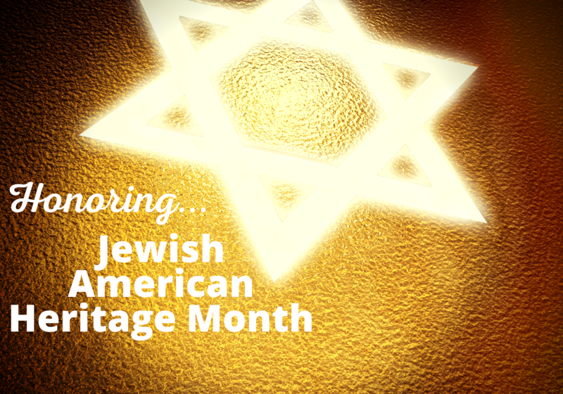Star of David with words Honoring Jewish American Heritage Month