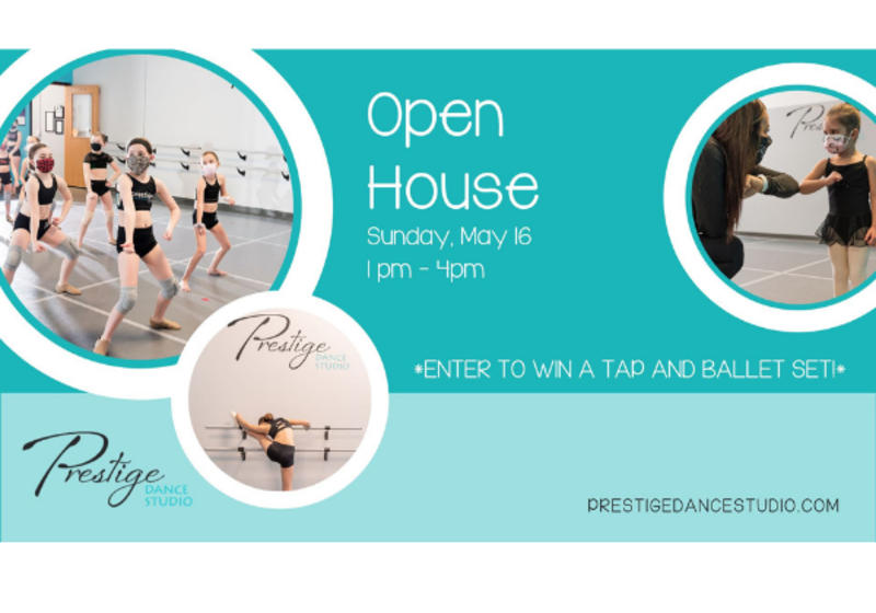 Prestige Dance Studio Cedar Rapids Iowa Open House Event Sunday May 16th 2021 1pm-4pm