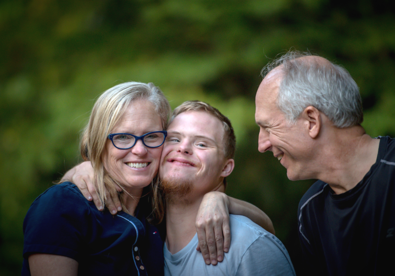 Family with son with Down syndrome, special needs