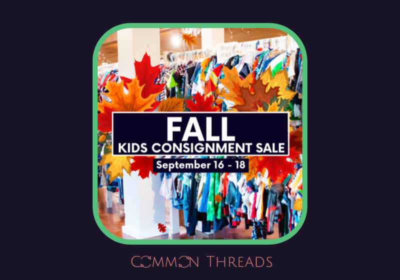 Common Threads, Consignment Sale, Miller Center, Lewisburg, Fall Kids
