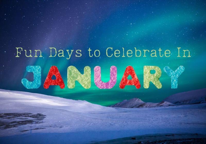 January National Days Calendar Printable