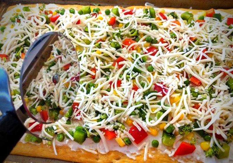 veggie flatbread recipe