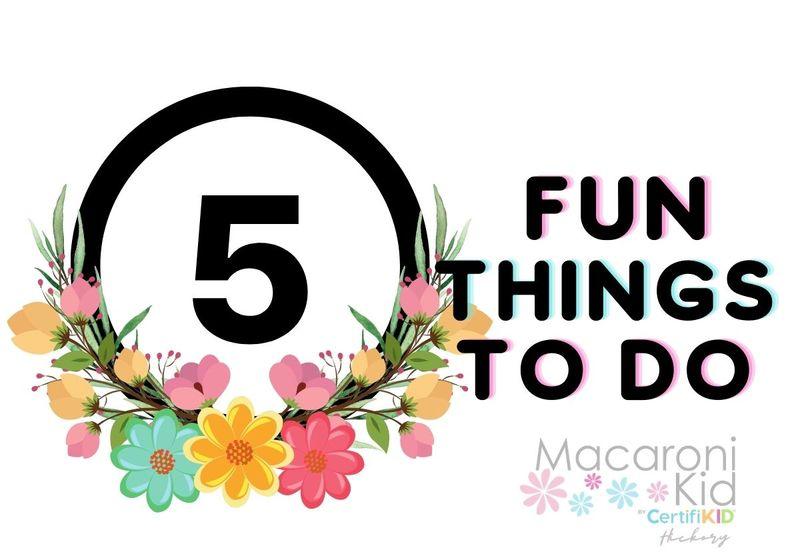Five Fun Things to Do