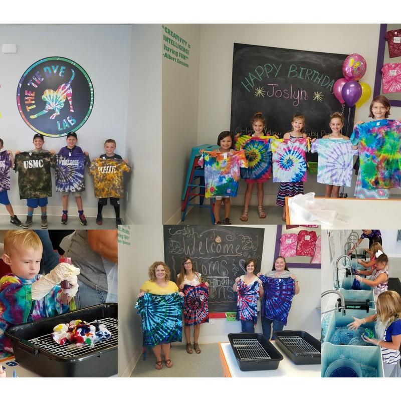 Tie Dye classes, homeschool, preschool, art, parties