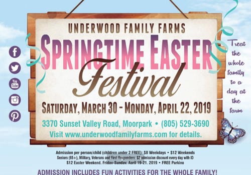 Underwood Farms Hosts Their Spring Easter Festival March 30 April 22