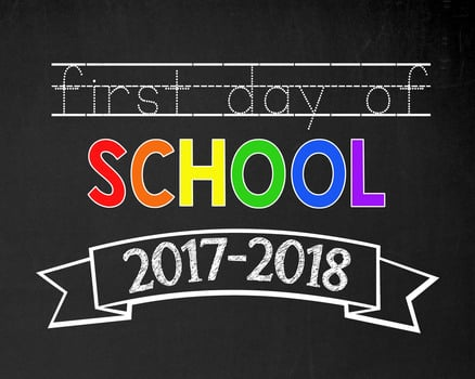 photograph regarding First Day of School Printable Sign titled To start with Working day of Higher education PRINTABLE Signs and symptoms