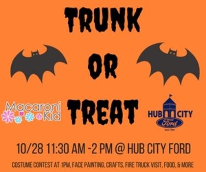 trunk or treat at hub city ford! | macaroni kid