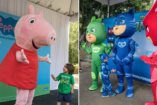 Character meet n greet peppa pig pj masks macaroni kid la zoo m4hsunfo