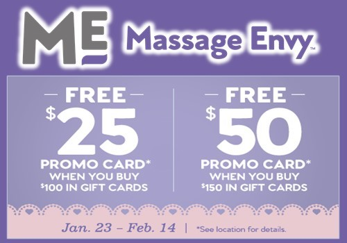 Celebrate Valentines Day With A Massage Envy Spa® Gift Card ...