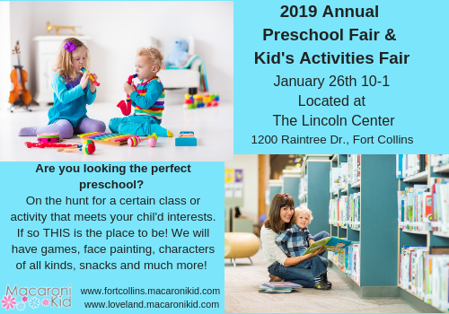save the date for the 2019 preschool kids activities fair