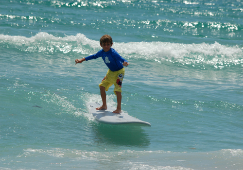 Surfing at Blue Water Surf Camp