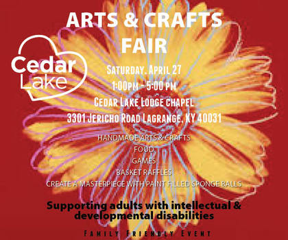 Come Shop At The Cedar Lake Arts And Crafts Fair On April 27th