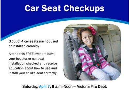 Car Seat Inspection Event - April 7, 2018 in Victoria, MN | Macaroni Kid
