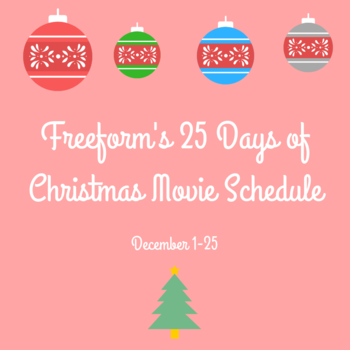 Freeform 25 Days Of Christmas.Freeform S 25 Days Of Christmas Movie Schedule