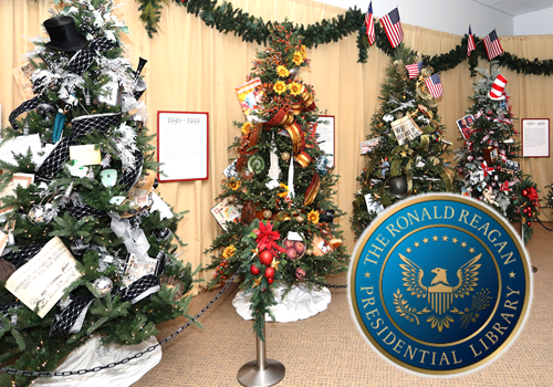 Image result for ronald reagan library christmas tree display