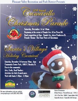 Camarillo Christmas Parade.52nd Annual Camarillo Christmas Parade Santa S Village Is