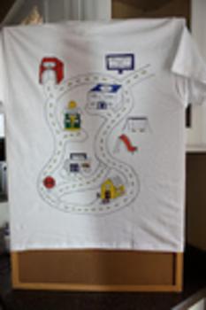 2c73d03db Man Massage! Car Track T-Shirt For Dad!   Macaroni Kid