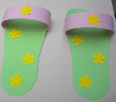 ce3800782 Preschool Craft  Paper flip flops