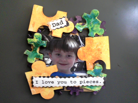 Fathers Day Craft Love You To Pieces Craft Macaroni Kid