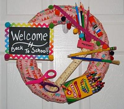 Diy Back To School Wreath
