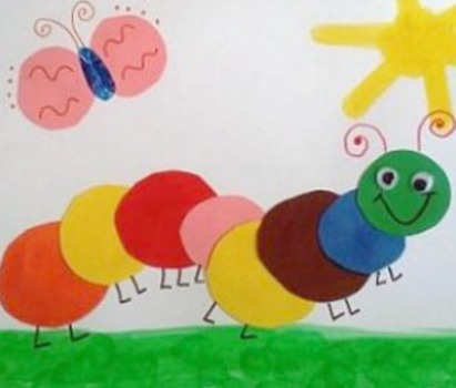 Welcome Spring Simple Caterpillar Craft
