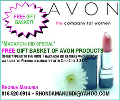 7 free avon gift baskets give away in march macaroni kid just for our northland kansas city macaroni kid subscribers negle Image collections