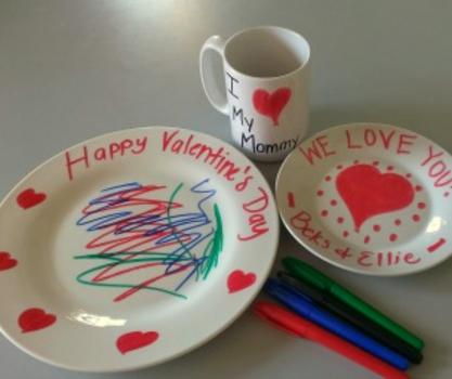 Do it yourself valentines mugs and plates macaroni kid do it yourself valentines mugs and plates solutioingenieria Gallery