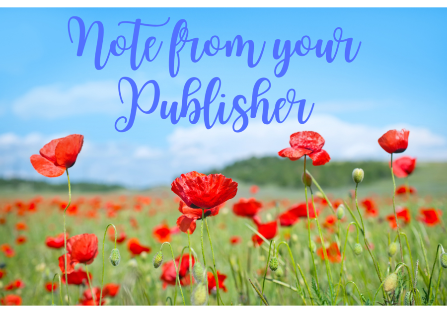 Note from Your Publisher