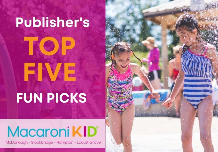 Kids playing in Splash Pad with Top 5 words