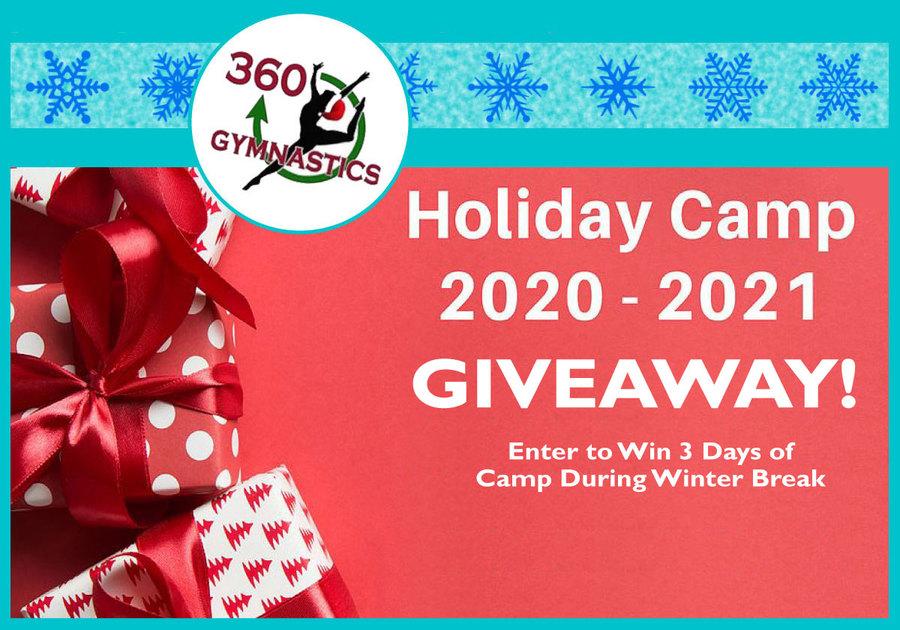 360 Gymnastics 2020 Holiday Camp Giveaway