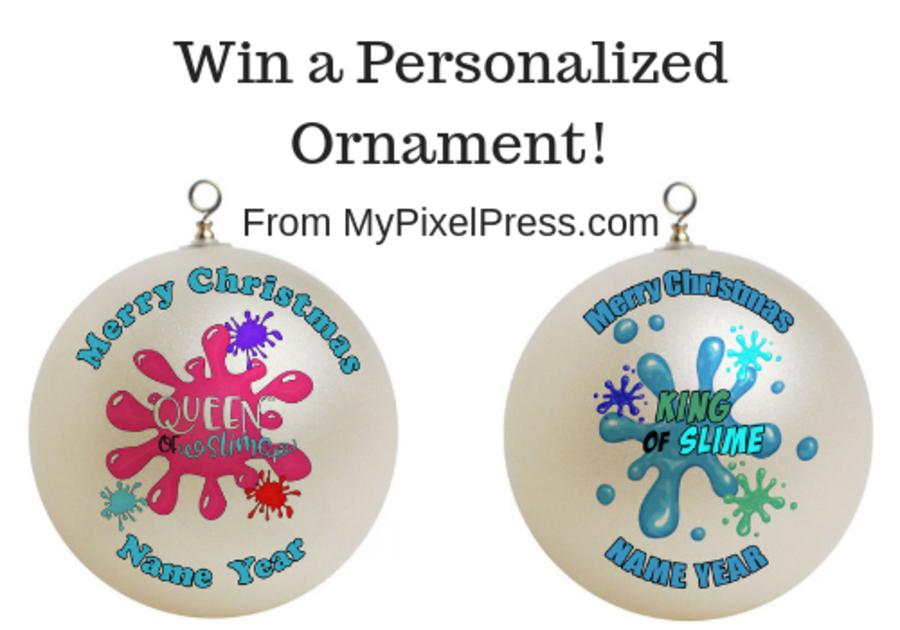 Personalized Christmas Ornament Giveaway from MyPixelPress.co