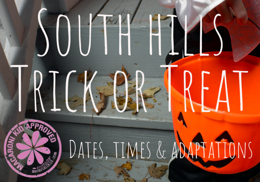 Trick or Treat times in the South Hills Bethel Park South Park, USC, Mt Lebo, Peters Township Brentwood Whitehall Elizabeth Jefferson Trunk or Treat Halloween Pittsburgh