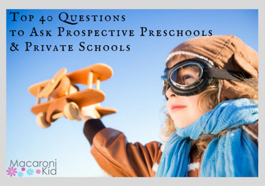 Top 40 Questions to Ask Prospective Preschools & Private Schools