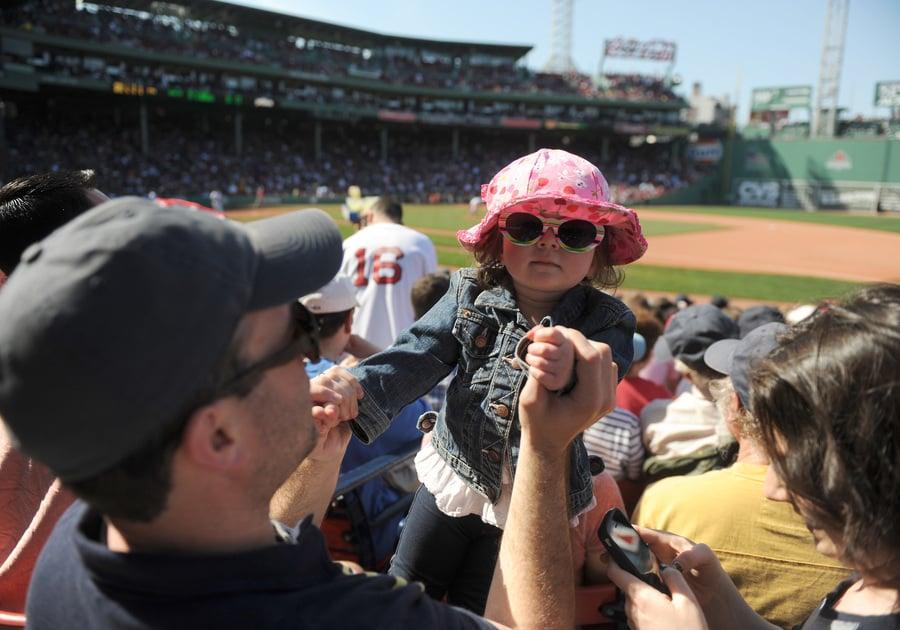 Girl at Red Sox Game