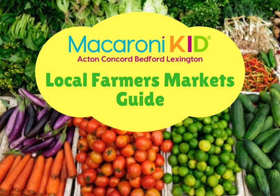 Farmers Market Guide table of vegetables