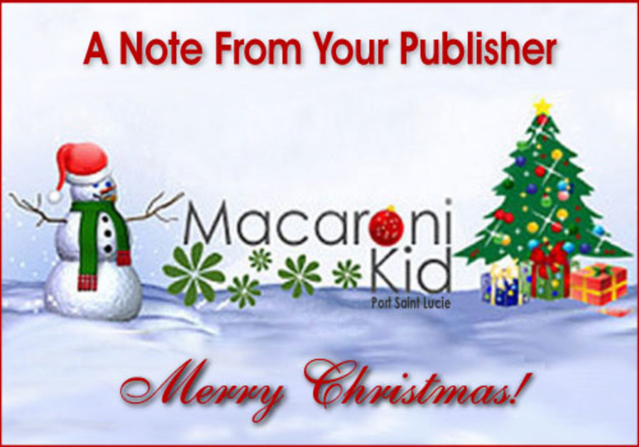 Christmas Note from your publisher