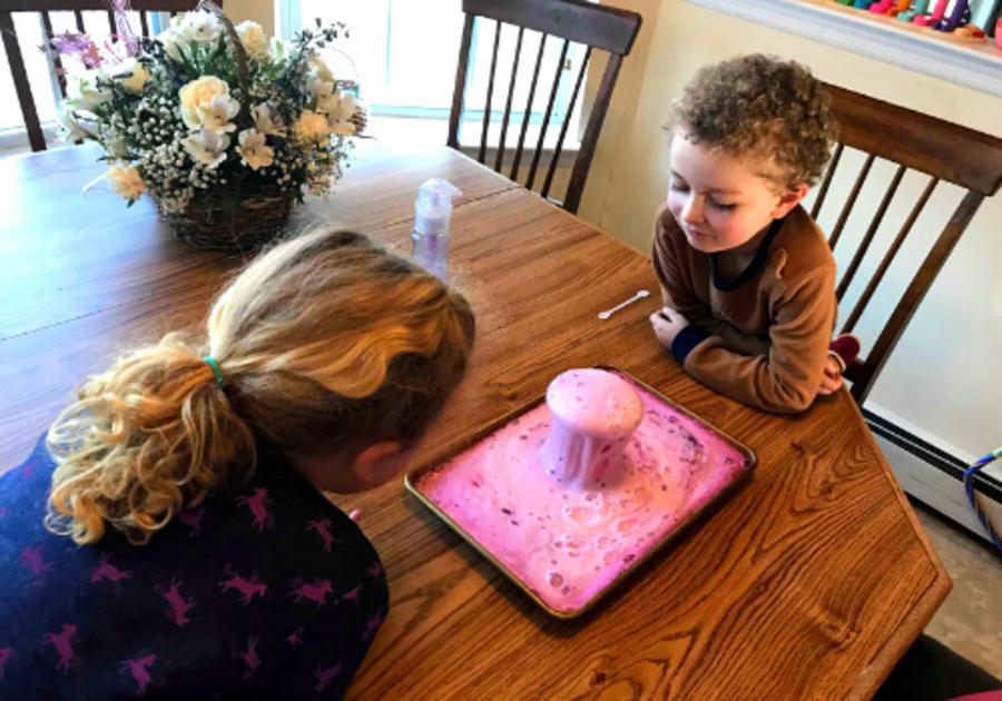 homemade volcano experiment