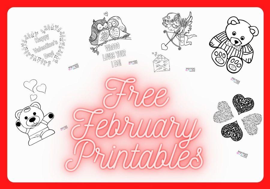 February Coloring Pages Free Printables Macaroni Kid Fredericksburg Spotsylvania Stafford