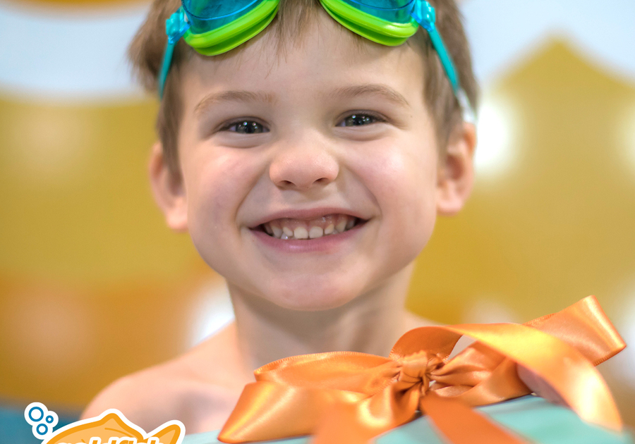 Gift the gift of swimming lessons at Goldfish Swim School in Rockland MA