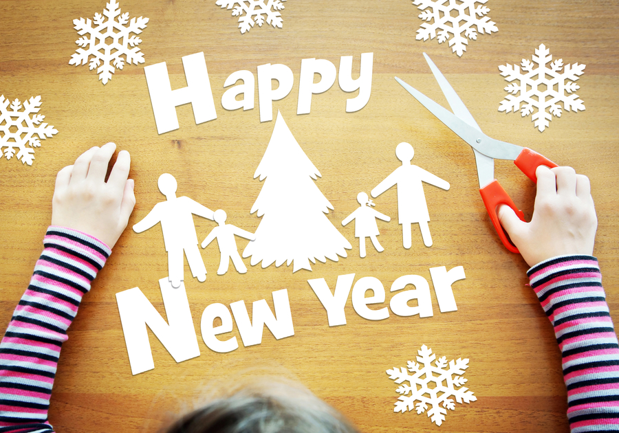 Happy New Year cutout