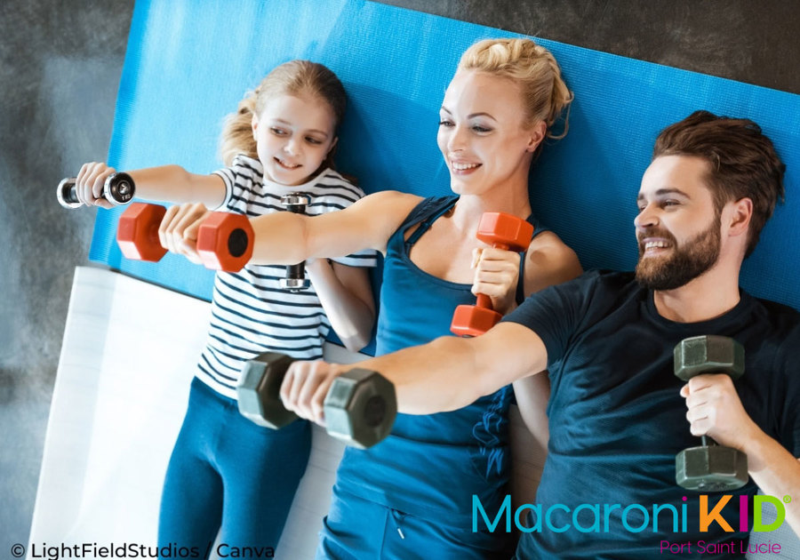 Family Working Out Together