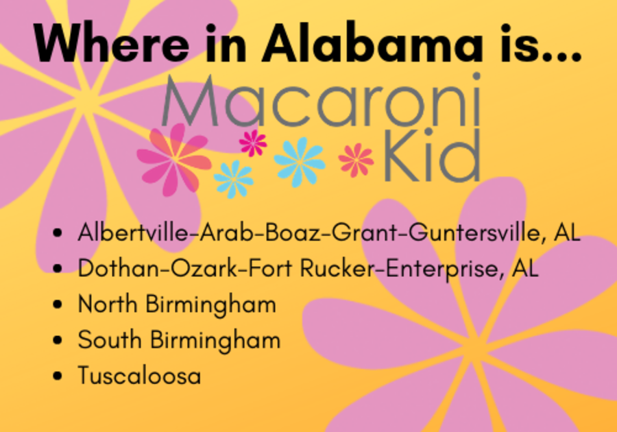 Things to do with kids in Alabama; activities for kids near me in Birmingham, Tuscaloosa, Huntsville, Dothan, AL