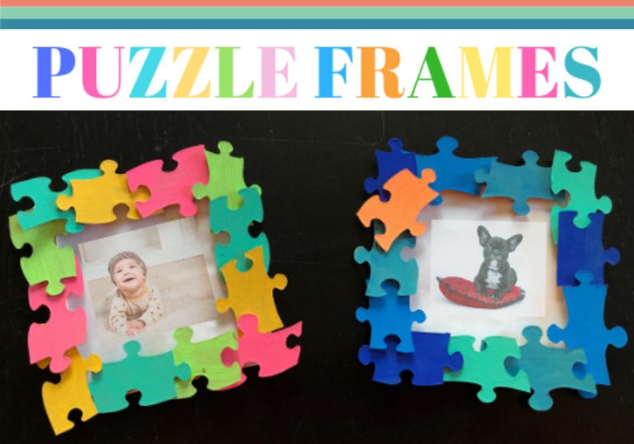 DIY puzzle frames